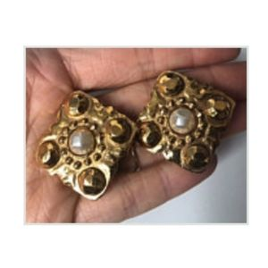 SALE Authentic Clip On CHANEL vintage earrings